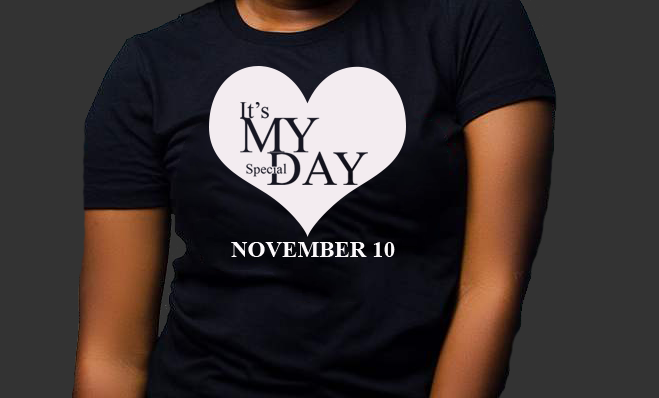 Special day tee (November)