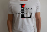 Legends are born in September (Unisex BC300) Soft Premium  T-Shirt