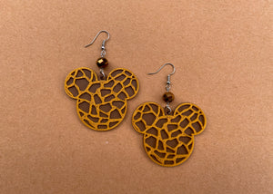 Giraffe Print Earrings