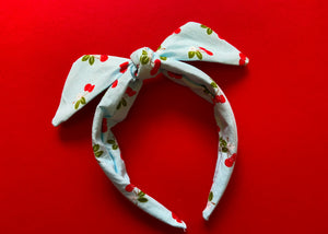 Cherry Knotted Bow