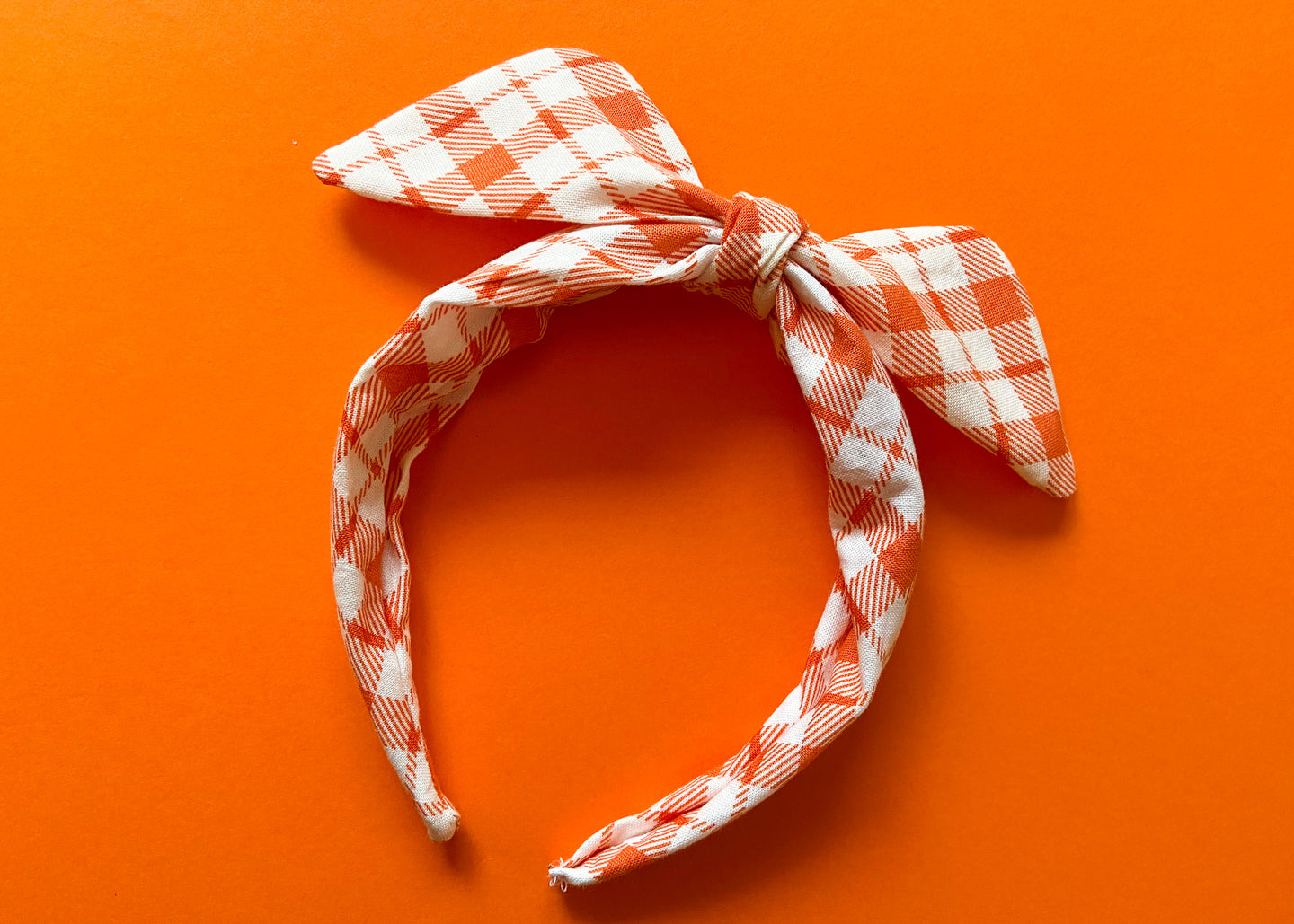 Fall Picnic Knotted Bow