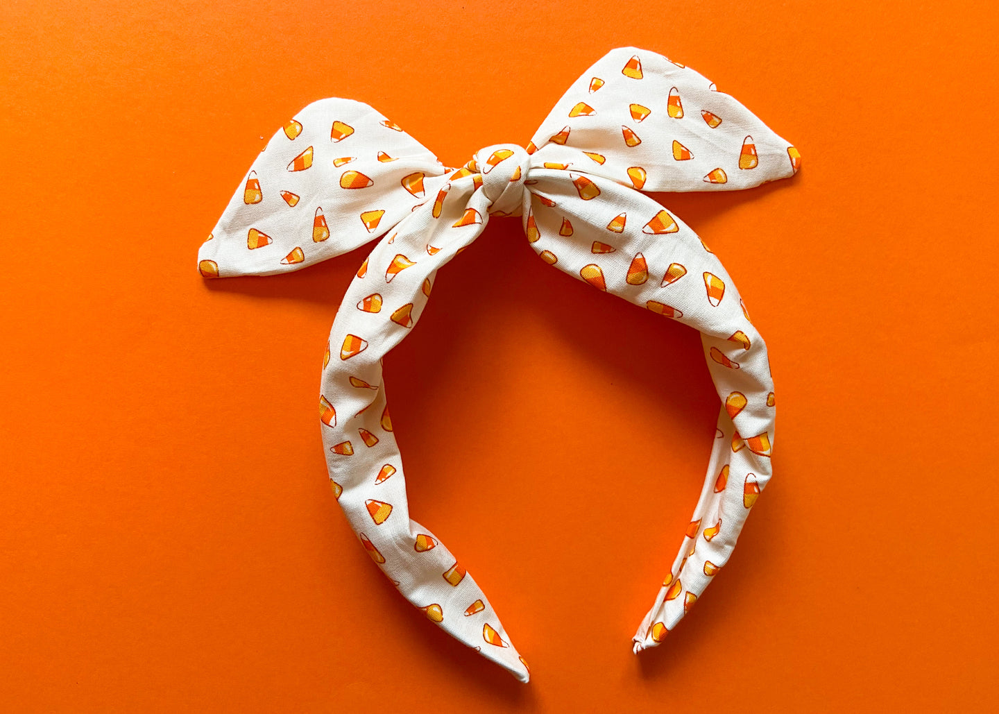 Mini Candy Corn Knotted Bow