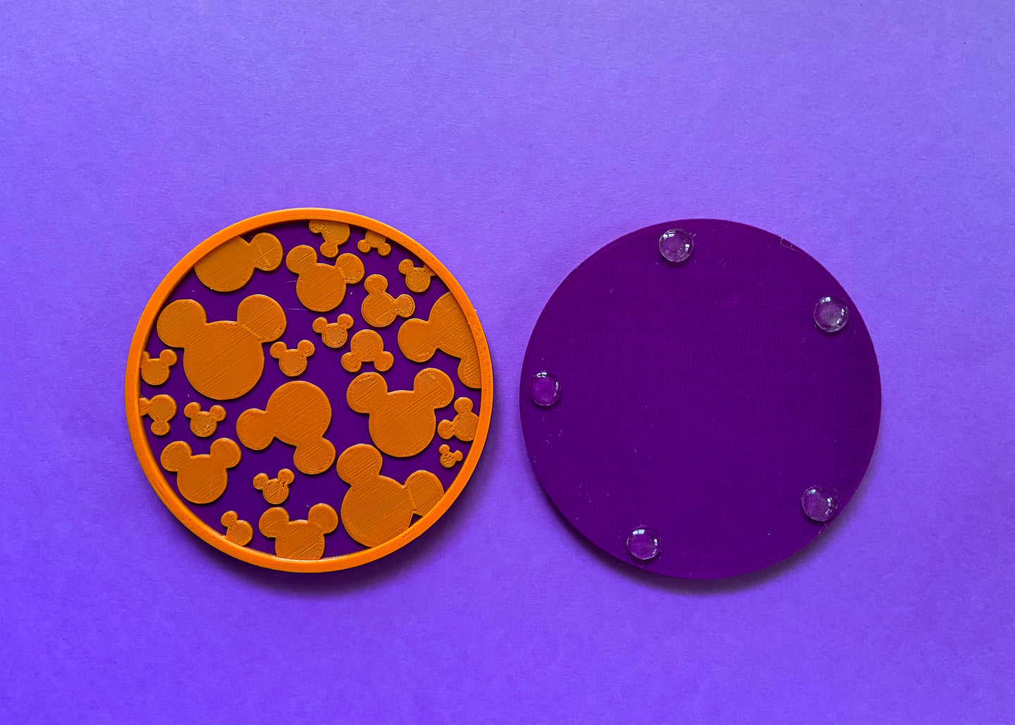 Halloween Hidden Mouse Coasters Purple (2 Pack)