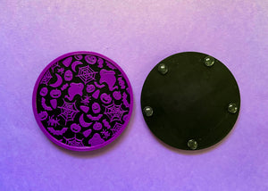 Halloween Coasters Purple and Black (2 Pack)