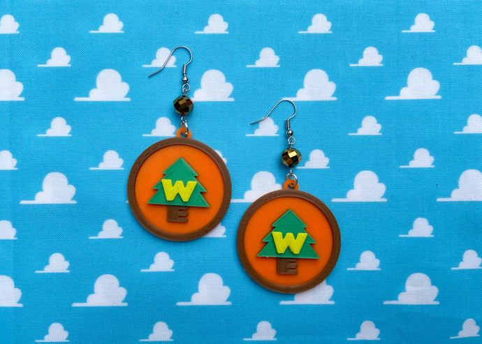 Wilderness Badge Earrings