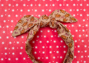 Gingerbread Man Knotted Bow
