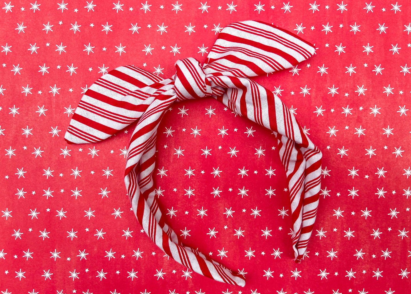 Candy Cane Knotted Bow