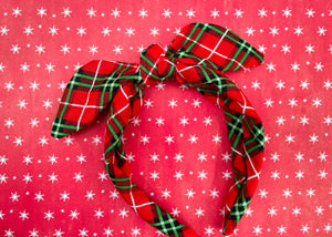 Red Flannel Knotted Bow