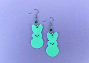Mint Green Peep Earrings