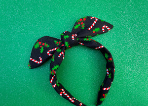 Candy Cane and Mistletoe Knotted Bow