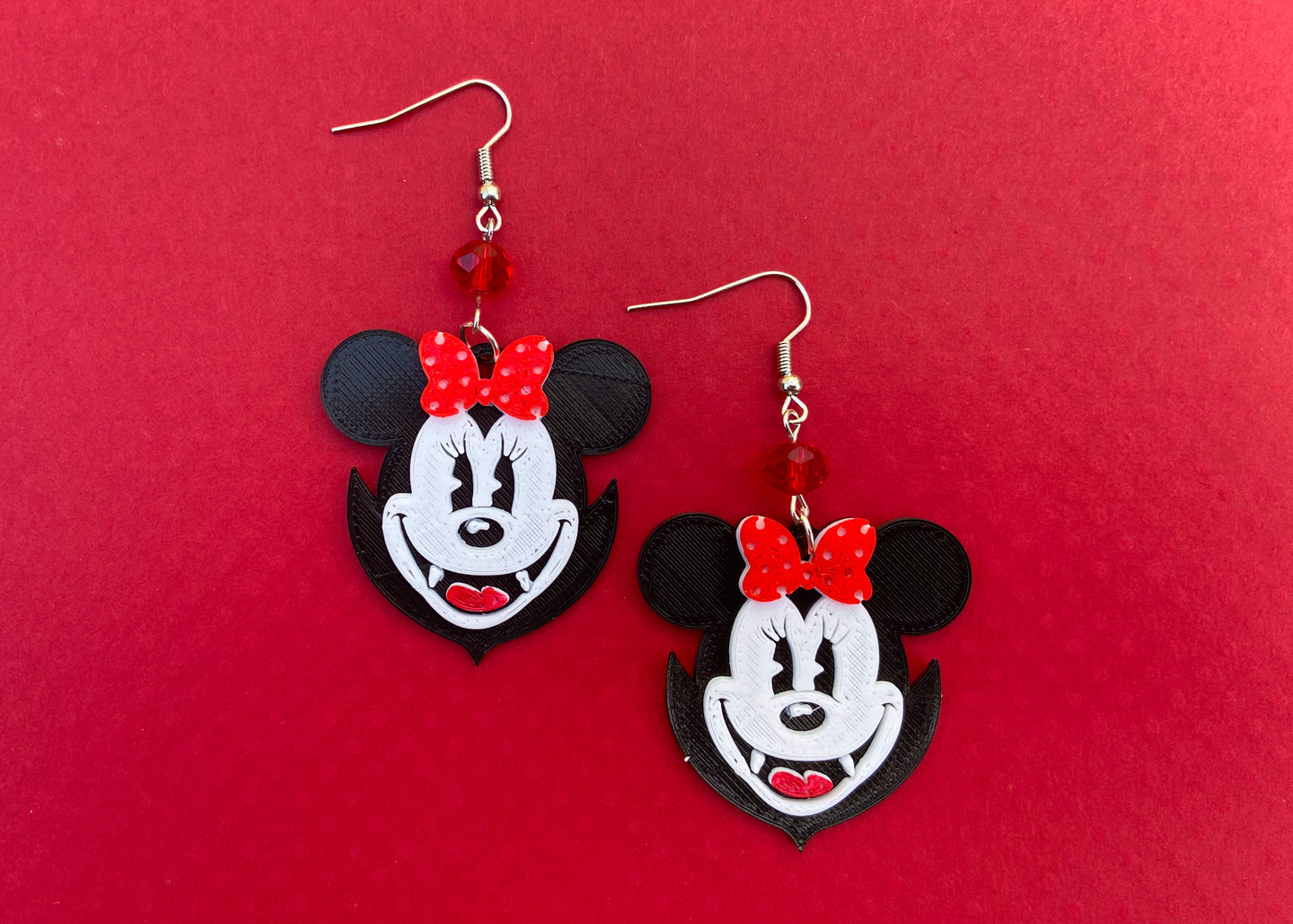 Vampire Ms. Mouse Earrings