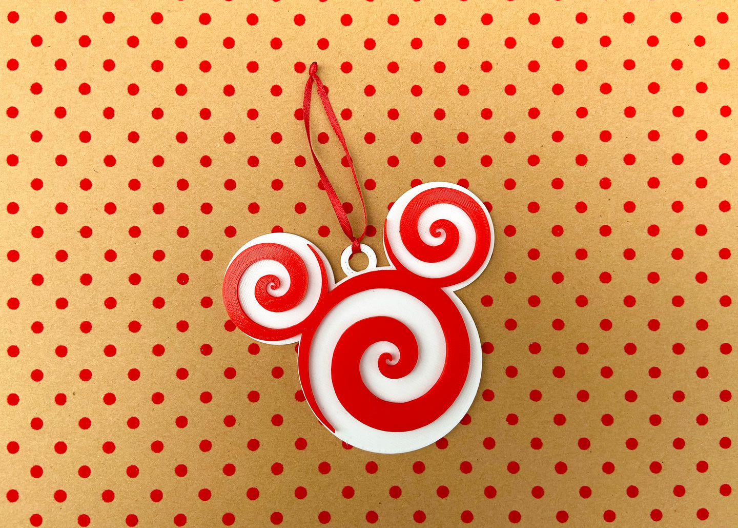 White Mouse Peppermint Candy Ornament
