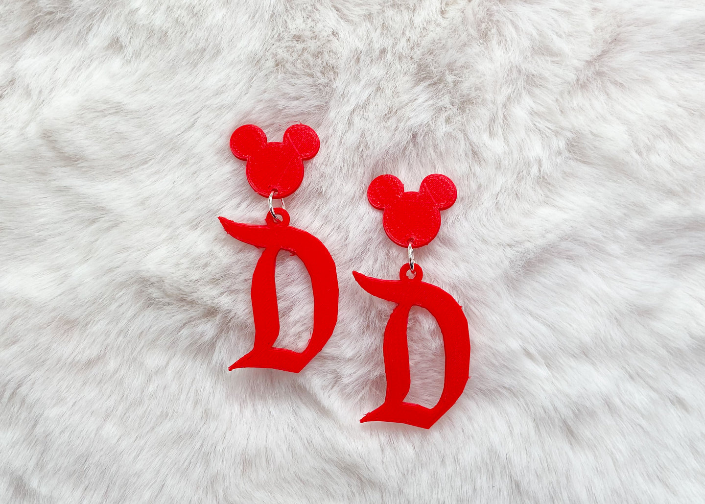 Red Retro Themepark Earrings