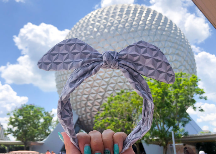 Spaceship Earth Knotted Bow