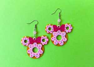 Mouse Donut Earrings