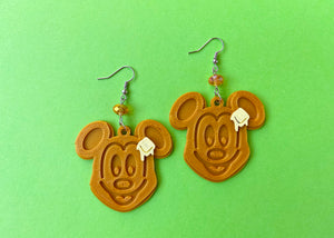 Mouse Waffle Earrings