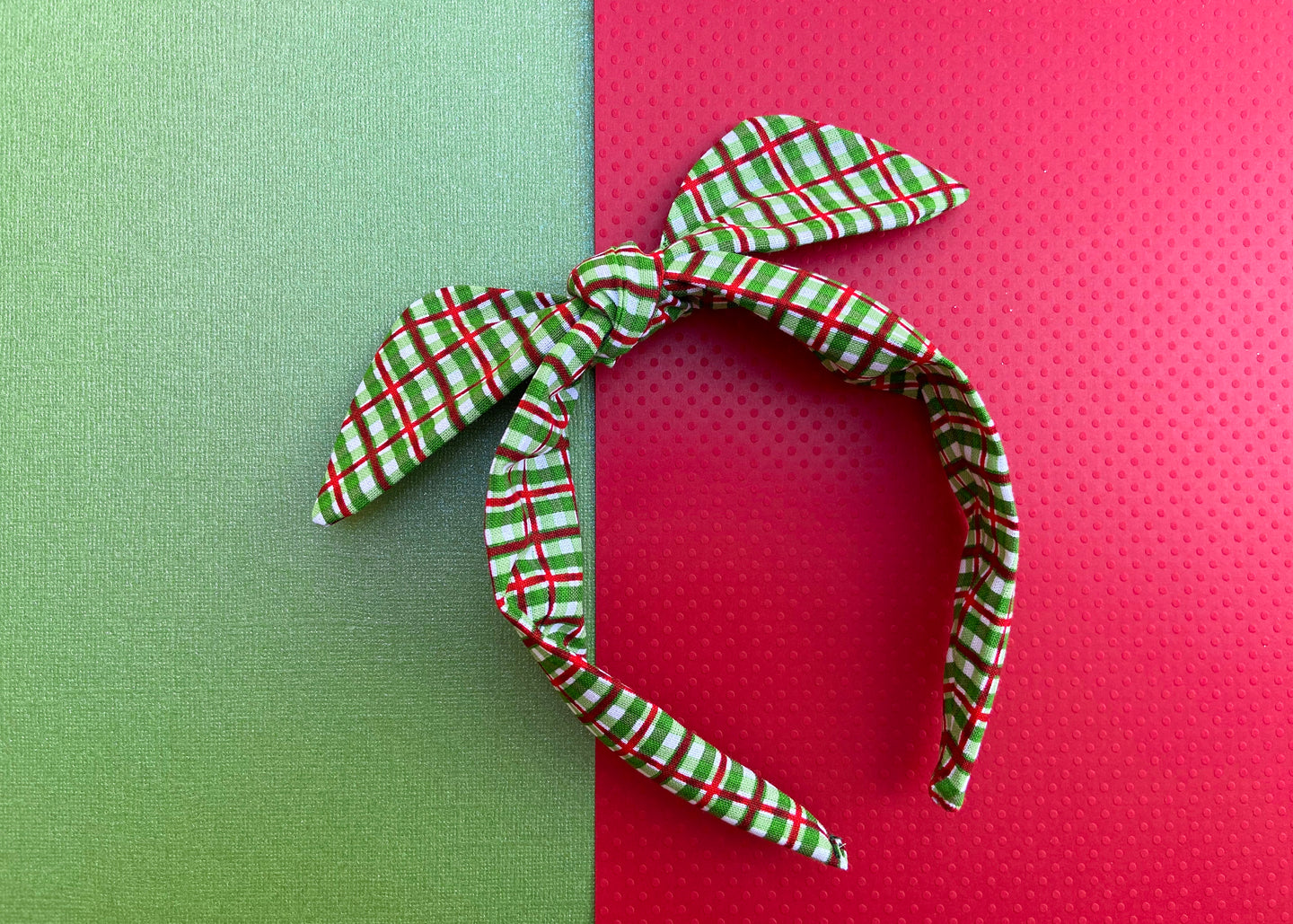 Green Christmas Knotted Bow
