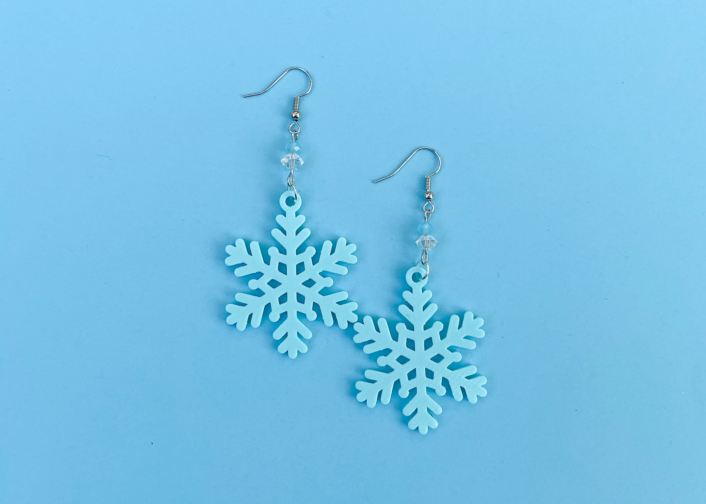 Mint Snowflake Earrings