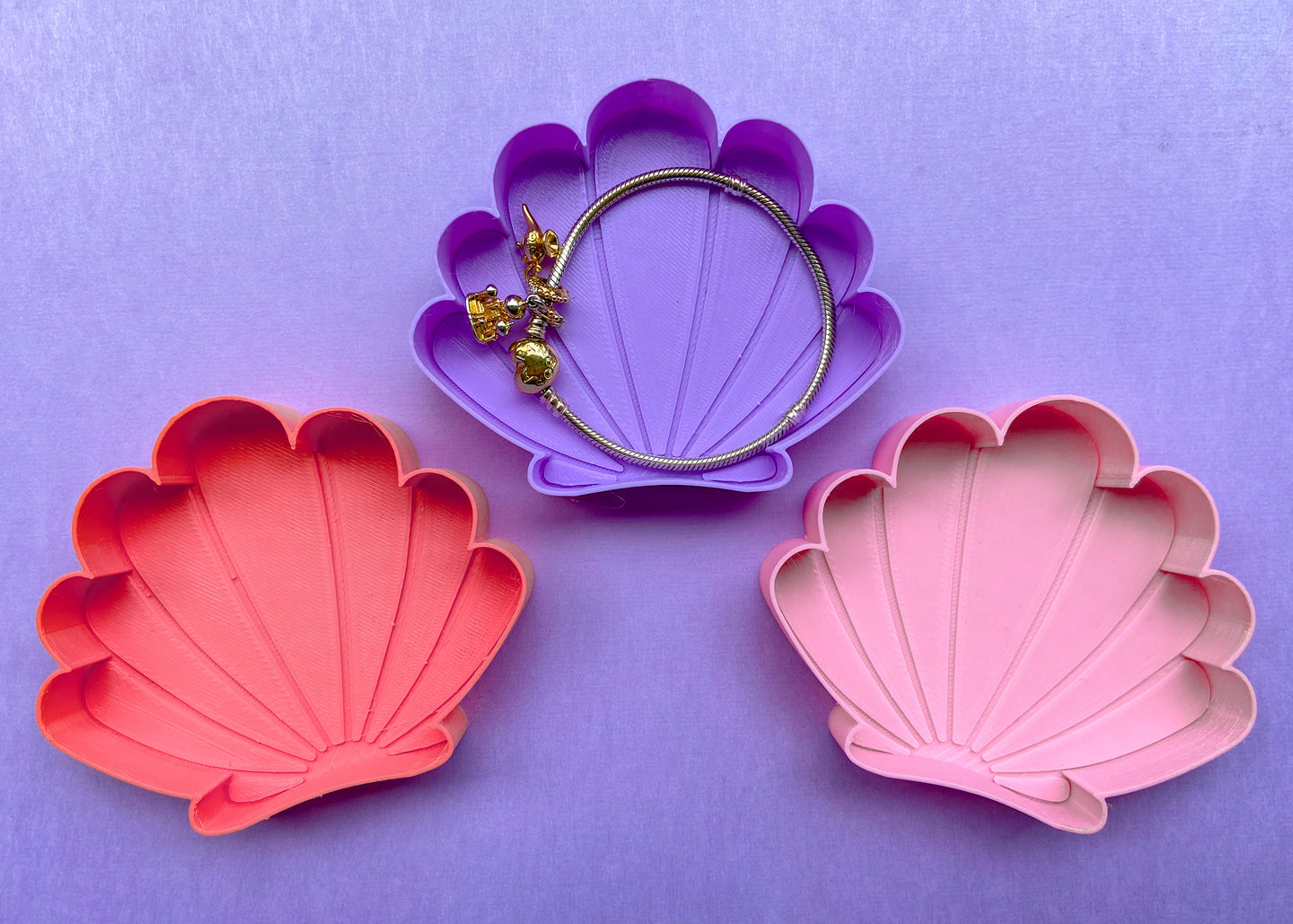 Mermaid Shell 3-Piece Jewelry Dish Set