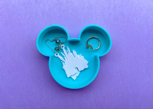 Mint Blue Mouse Jewelry Dish