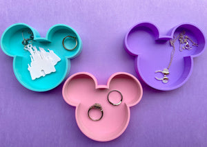 Pastel Mouse 3-Piece Jewelry Dish Set