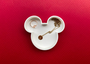 White Mouse Jewelry Dish