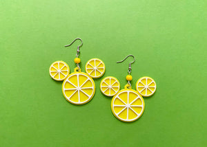 Lemon Mouse Earrings