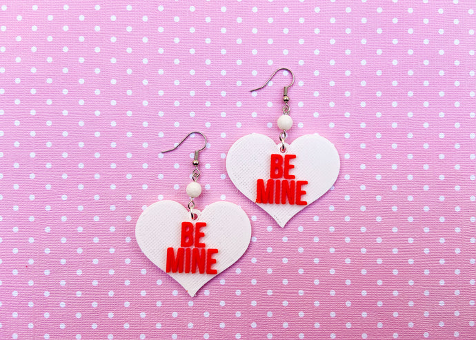 White Be Mine Earrings