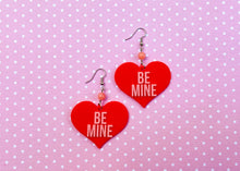 Load image into Gallery viewer, Red Be Mine Earrings