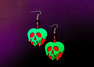 Glow in the dark Poison Apple Earrings