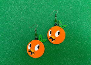 Citrus Bird Earrings
