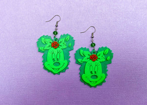 Ms. Garden Mouse Earrings