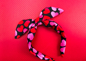 Red and Pink Hearts Knotted Bow