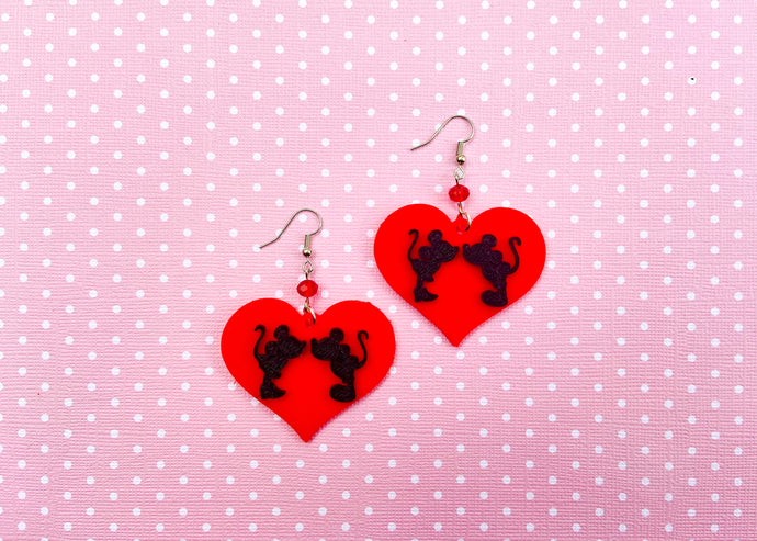 Valentine Mouse Earrings