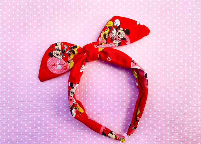 Red Mouse Heart Knotted Bow