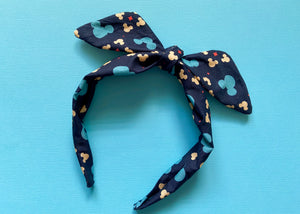 Navy Mouse Knotted Bow