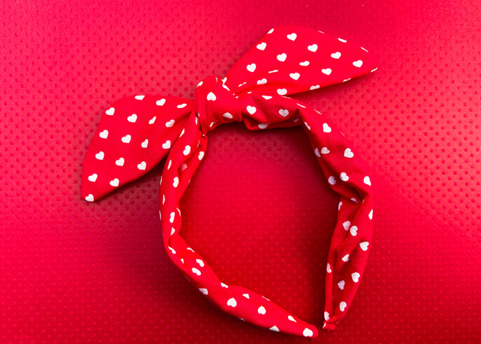 Valentine Red Knotted Bow