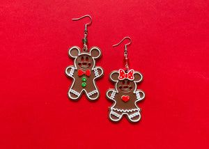 Gingerbread Mouse Earrings MIX