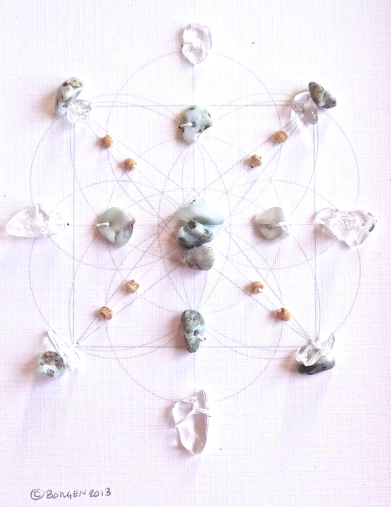TREASURED SOUL - larimar grid