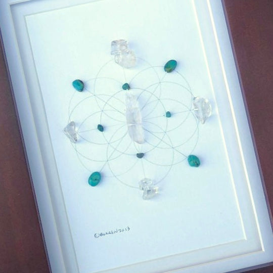 INNER WISDOM -- framed crystal grid