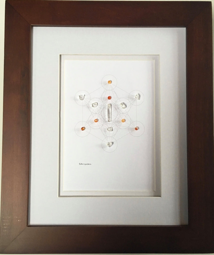 BABY MIRACLES -- framed crystal grid
