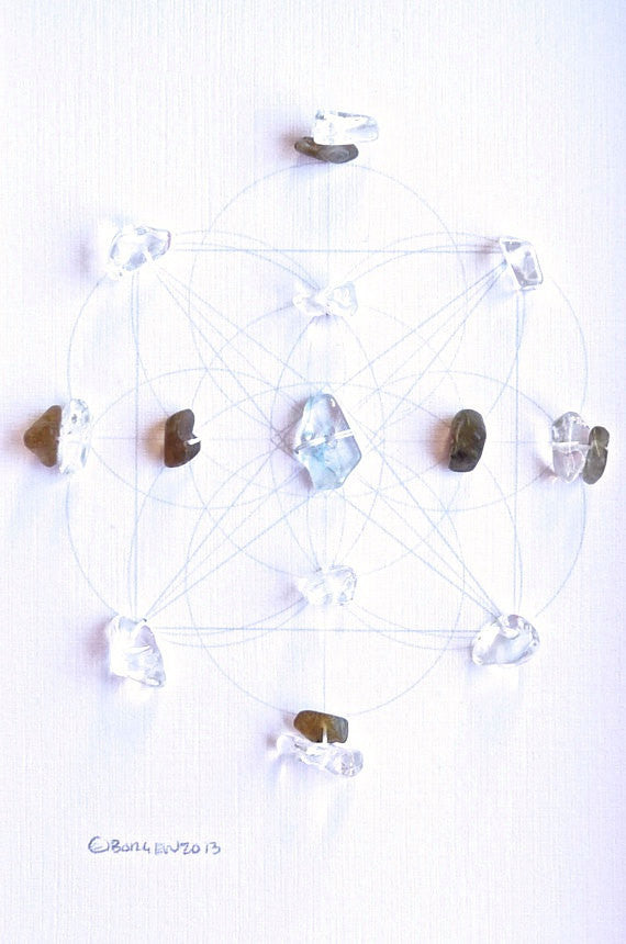 DIVINE GUIDANCE -- framed crystal grid