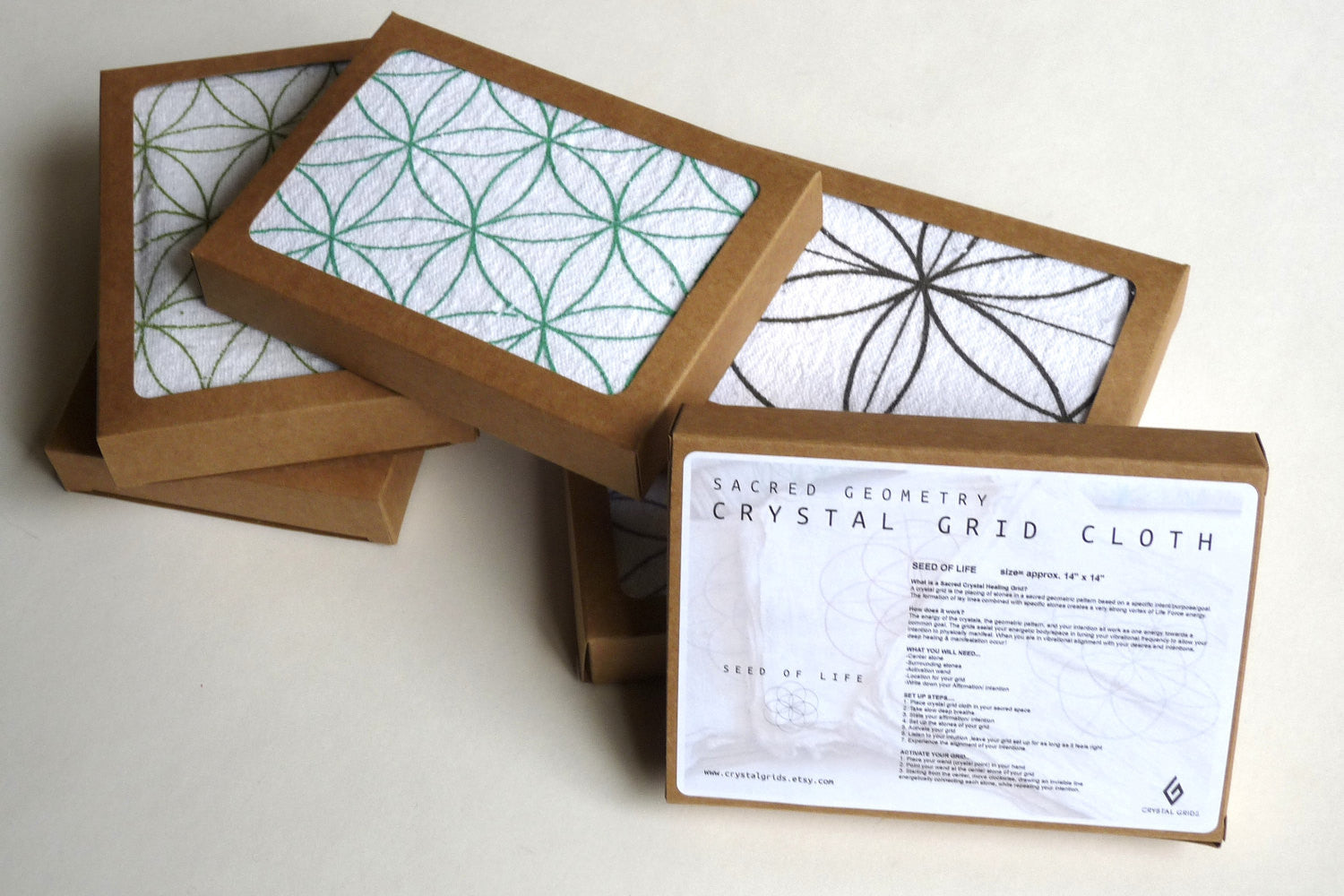 Crystal Grid Cloths Set Of 6 100 Cotton All Natural Sacred