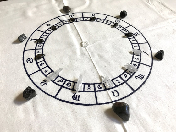 ASTROLOGY CHART---  Crystal Grid Cloth