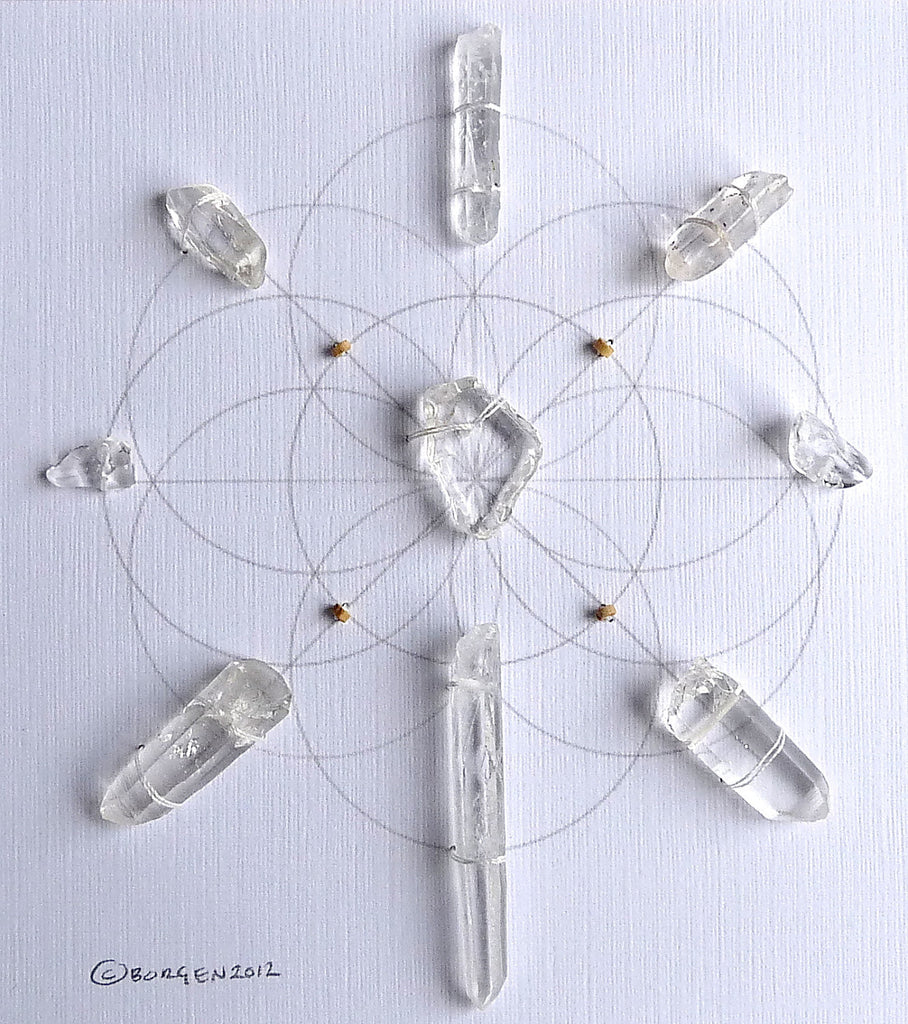 CLEAR ENERGIZE MANIFEST -- framed crystal grid