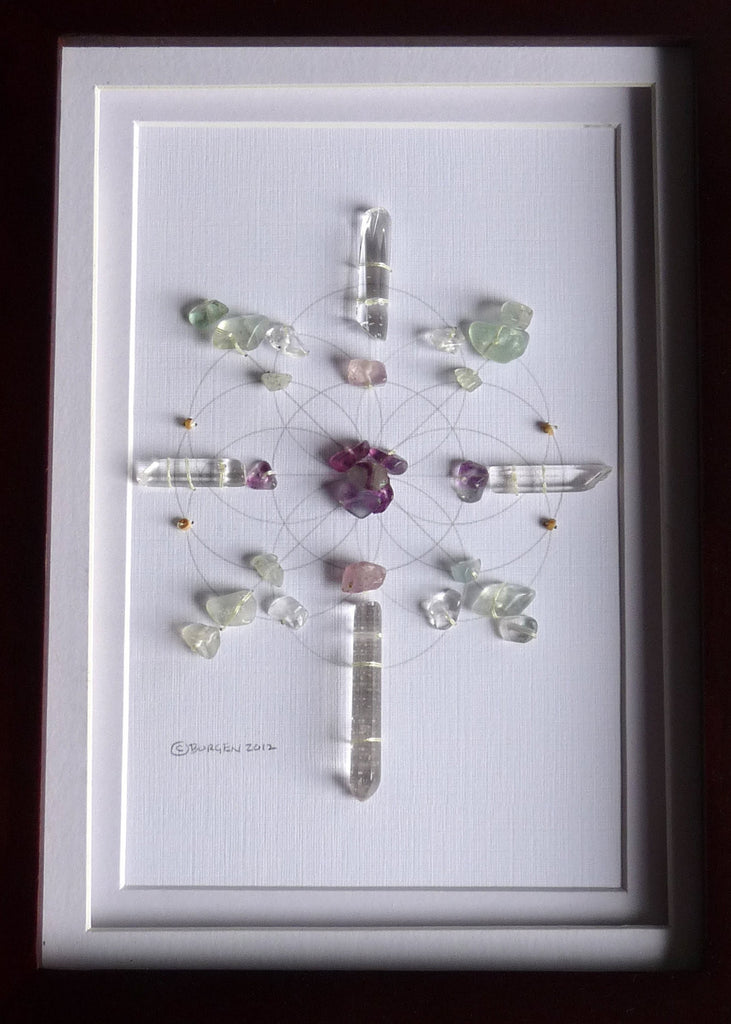 LAW OF ATTRACTION -- framed crystal grid