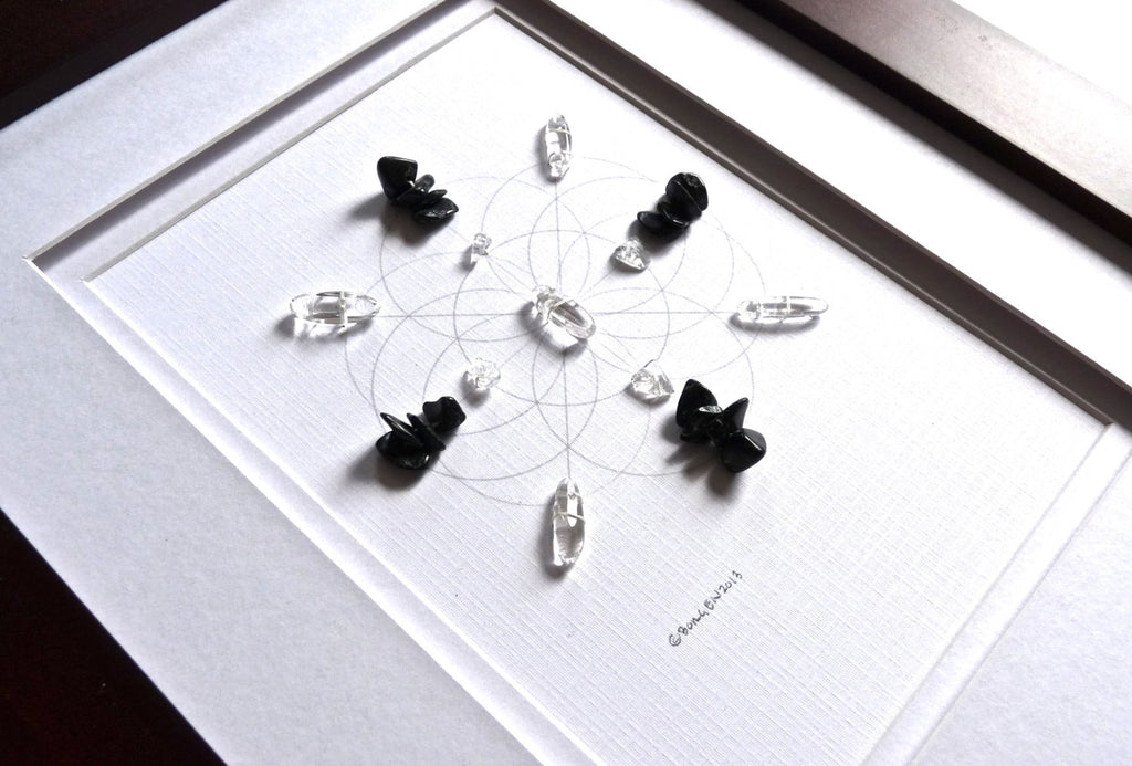 CAREER BAGUA AREA -- framed crystal grid