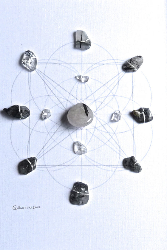 ENERGETIC PROTECTION & PURIFICATION -- framed crystal grid
