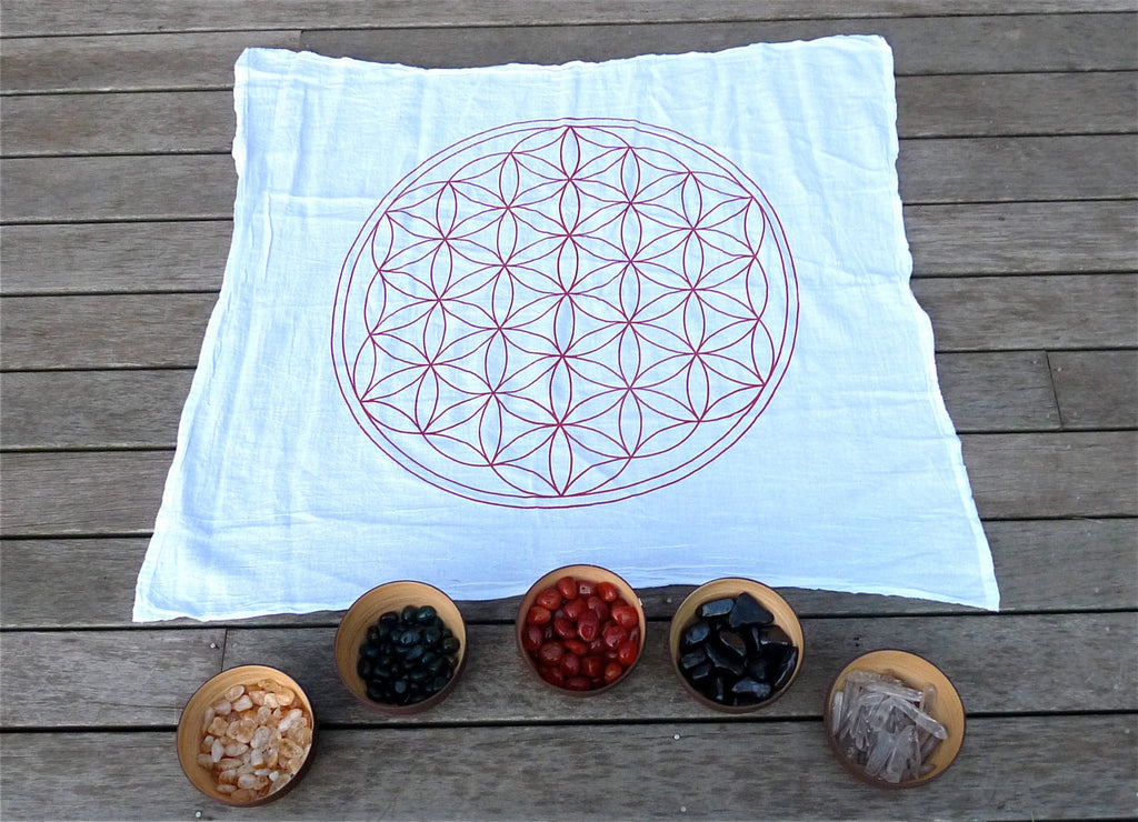 X-Large FLOWER OF LIFE -- Crystal Grid Cloth