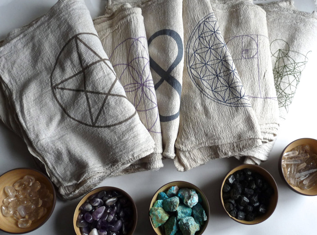 CRYSTAL GRID CLOTHS --- choose any 3 designs